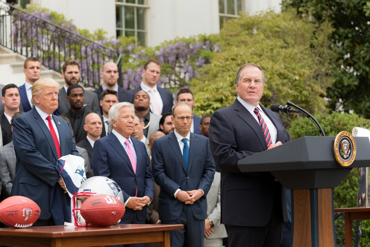 Robert Kraft Bill Belichick Donald Trump