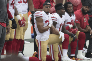 Eric Reid San Francisco 49ers National Anthem Kneeling