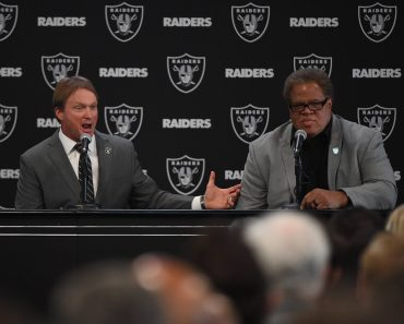 Reggie McKenzie Oakland Raiders new head coach John Gruden L answers with Reggie McKenzie at the Raiders Headquarter