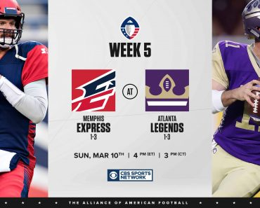 Week 5 AAF Live Memphis Express Atlanta Legends