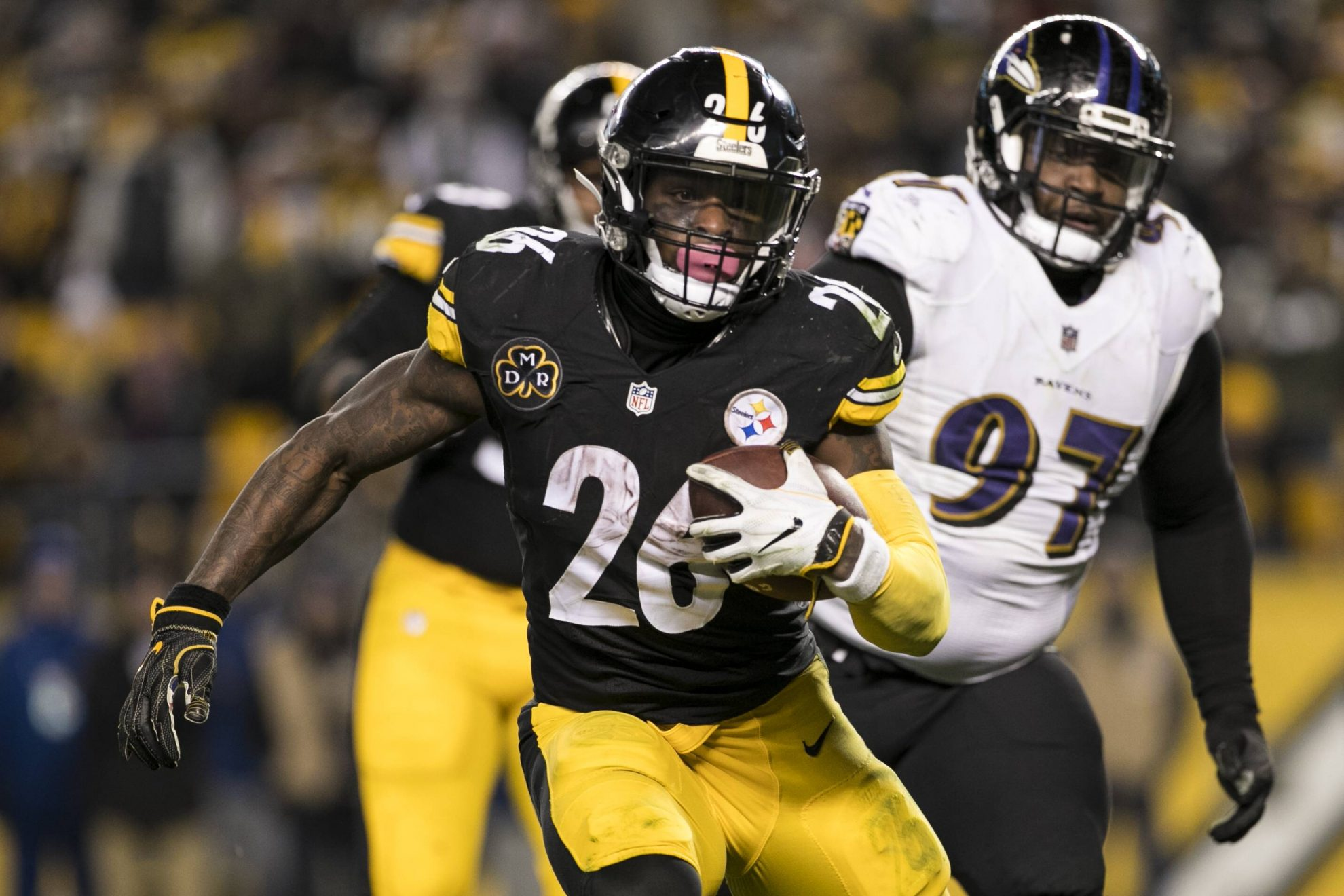PITTSBURGH PA DECEMBER 10 Pittsburgh Steelers Running Back Le Veon Bell 26 runs with the ball