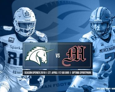 GFL Marburg Mercenaries Saison 2019 Schwaebisch Hall Unicorns Season Opener