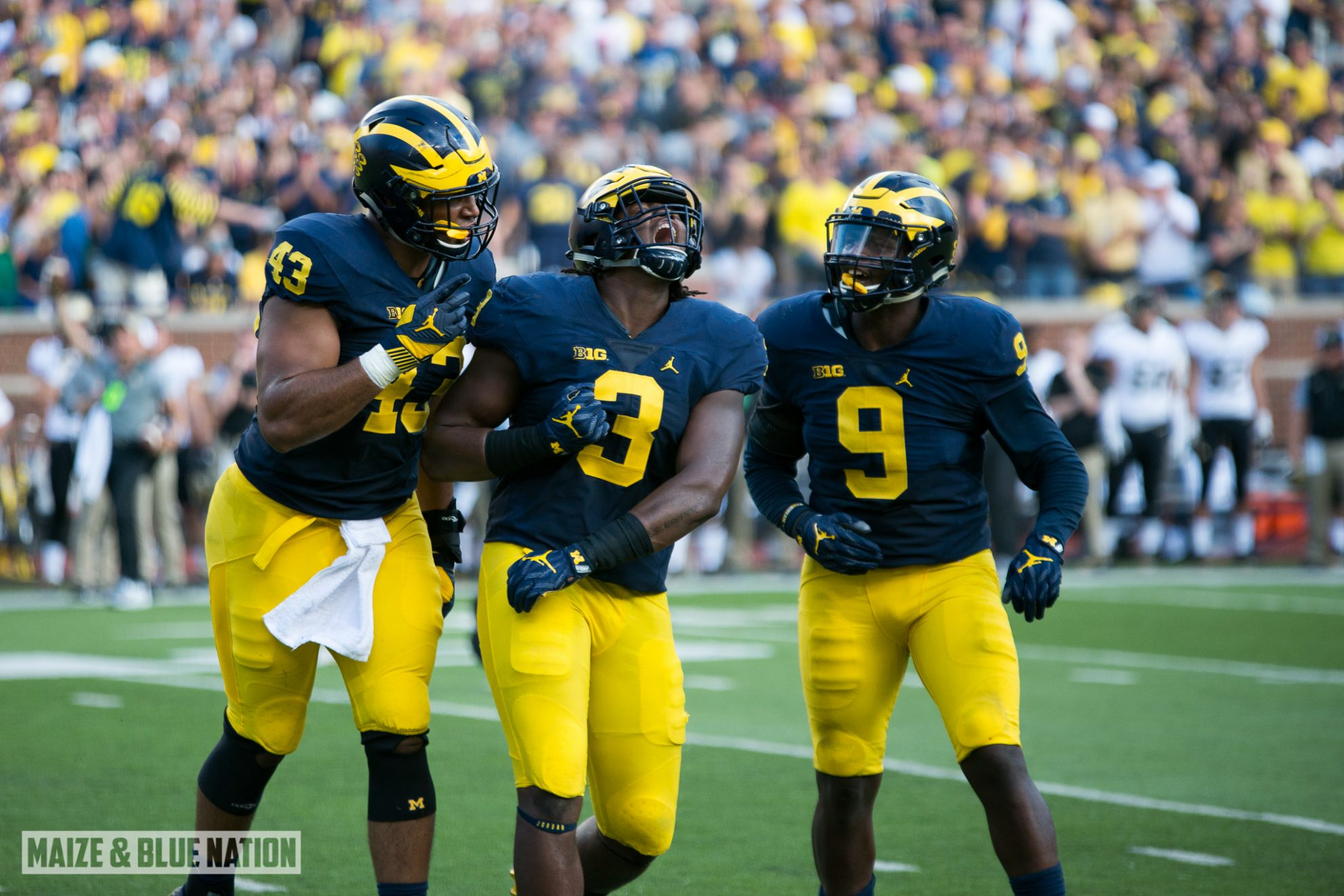 Rashan Gary celebrates_tackle_(29752294225)