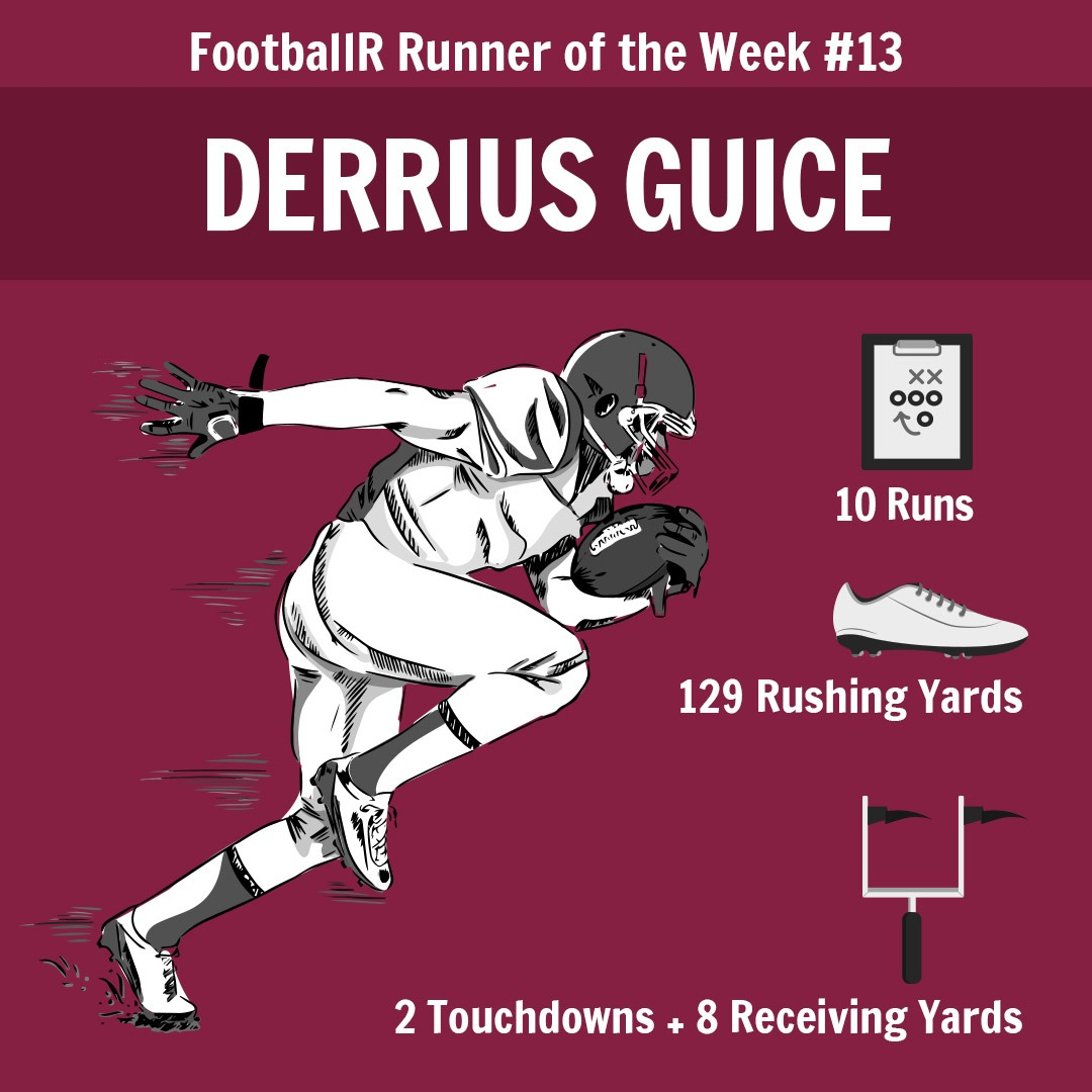 derrius guice - footballr runner of the week