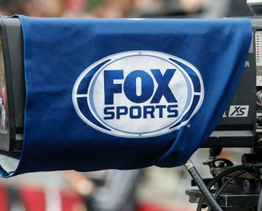 GLENDALE AZ OCTOBER 28 Fox Sports logo on a TV camera during the NFL American Football Herren US