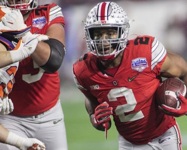 December 28, 2019, Phoenix, Arizona, USA: 2 J.K. Dobbins, RB of the Ohio State Buckeyes runs for a touchdown during the