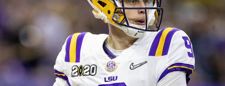 January 13, 2020: LSU quarterback Joe Burrow 9 passes the ball during College Football Playoff National Championship game action between the Clemson Tigers and the LSU Tigers at Mercedes-Benz Superdome in New Orleans, Louisiana. LSU defeated Clemson 42-25. /CSM NCAA, College League, USA Football 2020: CFP National Championship Clemson vs LSU JAN 13 PUBLICATIONxINxGERxSUIxAUTxONLY - ZUMAc04 20200113zafc04366 Copyright: xJohnxMersitsx
