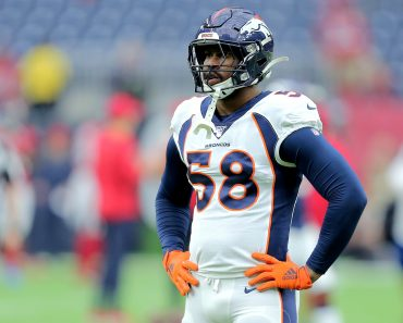 December 8, 2019, Houston, Texas, U.S: Denver Broncos linebacker Von Miller (58) prior to the NFL, American Football Her