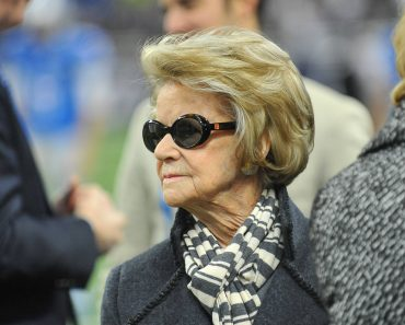 November 22 2015 Detroit Lions Owner and Chairman Mrs Martha Firestone Ford prior to the game on