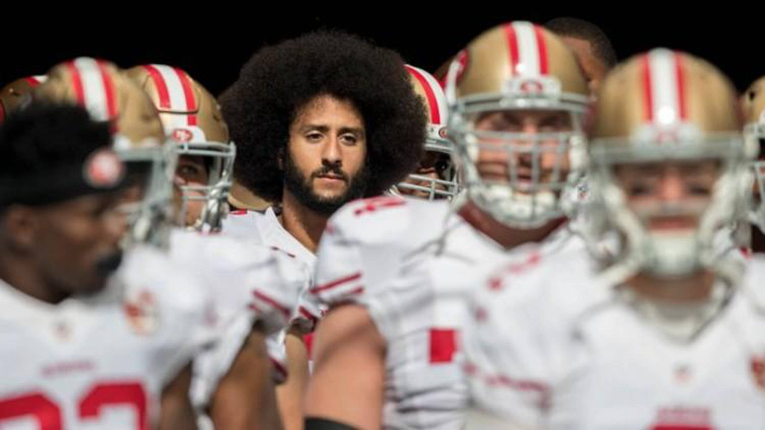 January 25, 2020, USA: Colin Kaepernick waits to enter the field with the 49ers before a 2016 game against the Dolphins
