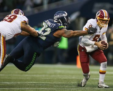 November 5 2017 Washington Redskins quarterback Kirk Cousins 8 tries to escape from Seattle Seah