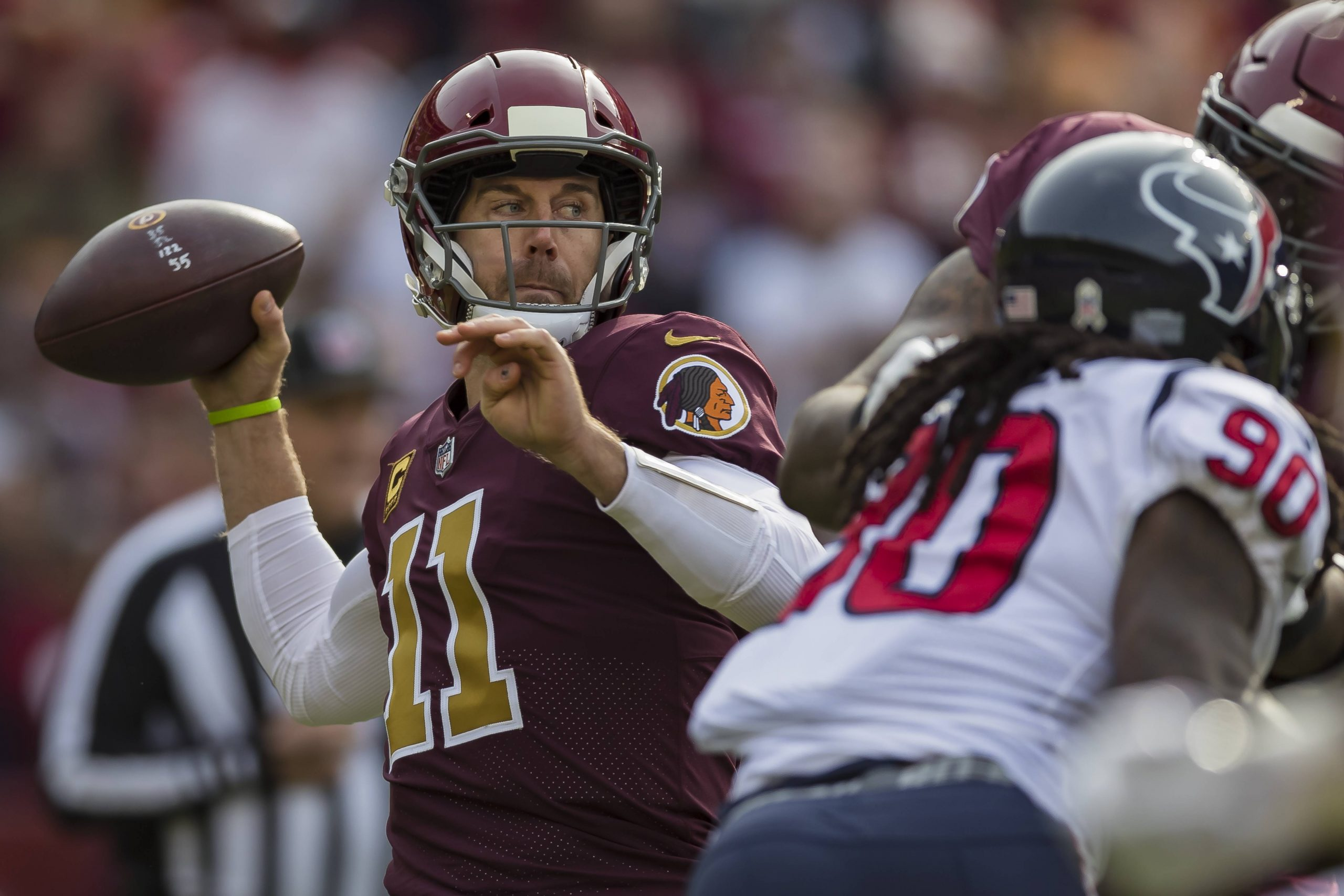 November 18 2018 Washington Redskins quarterback Alex Smith 11 attempts a pass during the first