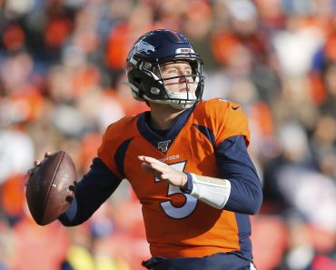 DENVER, CO - DECEMBER 29: Denver Broncos Quarterback Drew Lock (3) looks to pass during a regular season game between th