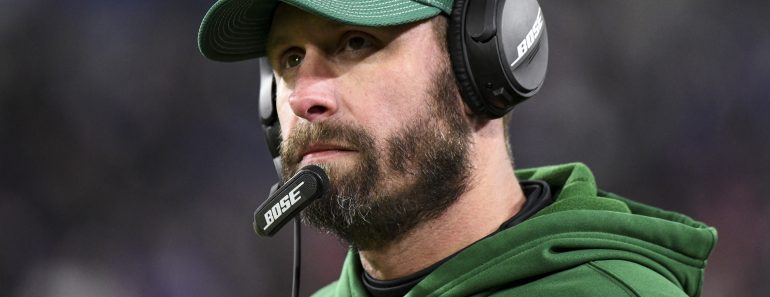 BALTIMORE, MD - DECEMBER 12: New York Jets head coach Adam Gase stands on the sidelines during the game against the Balt