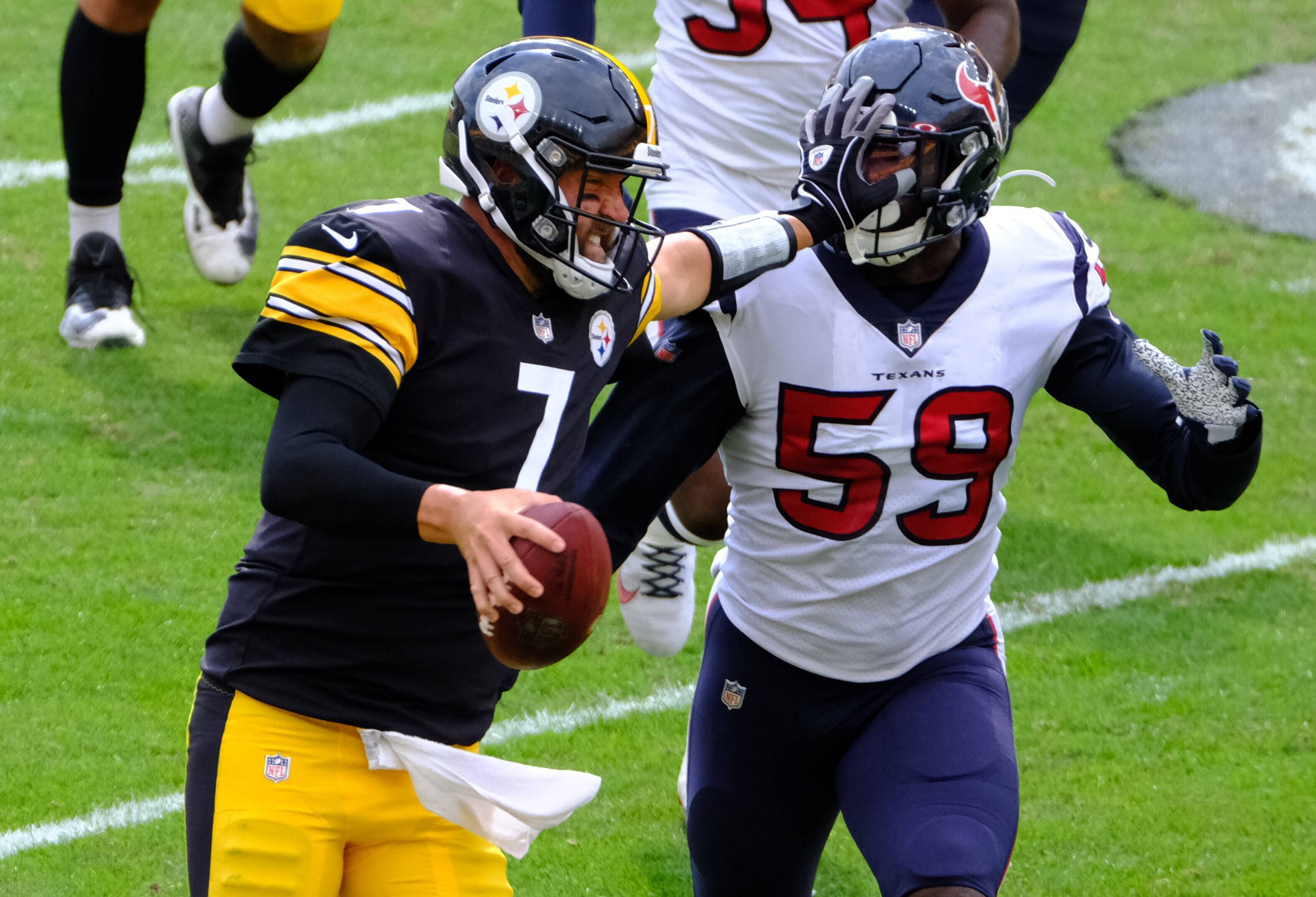 September 27th, 2020: Ben Roethlisberger 7 during the Pittsburgh Steelers vs Houston Texans game at Heinz Field in Pitt