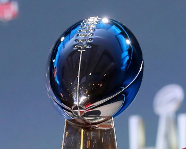Super Bowl LV: A general view of the Vince Lombardi Trophy during the Commissioners press conference, PK, Press