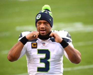 Seattle Seahawks quarterback Russell Wilson (3) leaves the field after the Seahawks defeated the Washington Football Tea