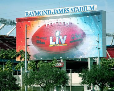 January 20, 2021, Tampa, Florida, USA: Raymond James Stadium is showing signs of preparation on Wednesday, Jan. 20, 202