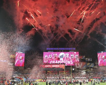 February 7, 2021, Tampa, Florida, USA: Fireworks celebrate the Buc s win in Super Bowl 55 between the Kansas City Chief