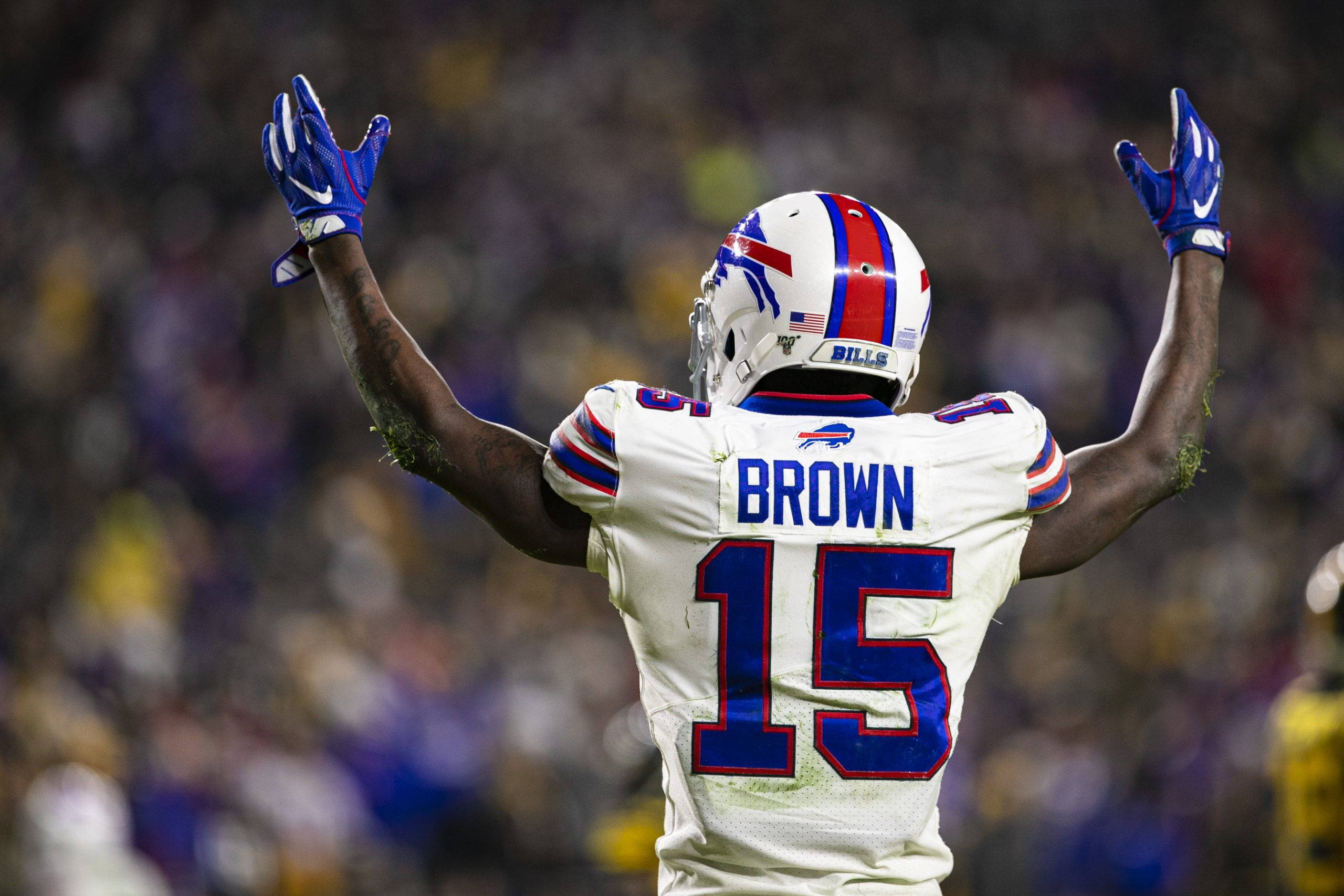PITTSBURGH, PA - DECEMBER 15: Buffalo Bills wide receiver John Brown (15) celebrates during the NFL, American Football H