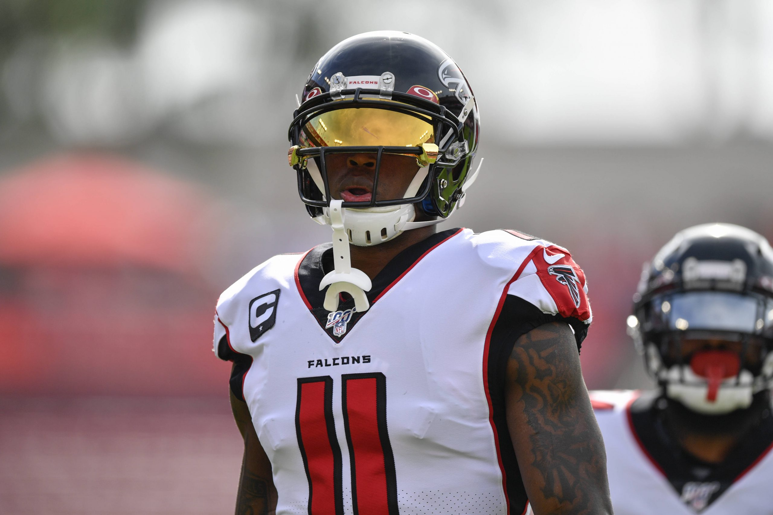 TAMPA, FL - DECEMBER 29: Atlanta Falcons Wide Receiver Julio Jones (11) prior to the first half of an NFL, American Foot