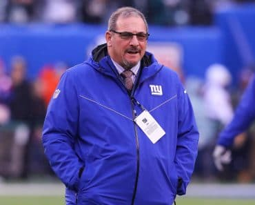 EAST RUTHERFORD, NJ - DECEMBER 29: New York Giants general manager Dave Gettleman prior to the National Football League