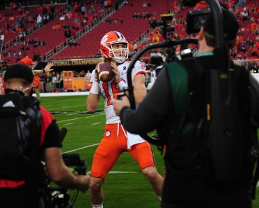 (FILE PHOTOS)..former Clemson Tigers quarterback (16) Trevor Lawrence is projected to go 1st in the NFL, American Footba
