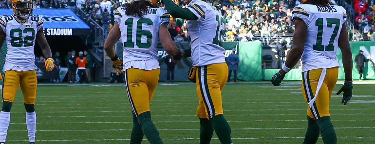 EAST RUTHERFORD NJ DECEMBER 23 Green Bay Packers wide receiver Jake Kumerow 16 celebrates with