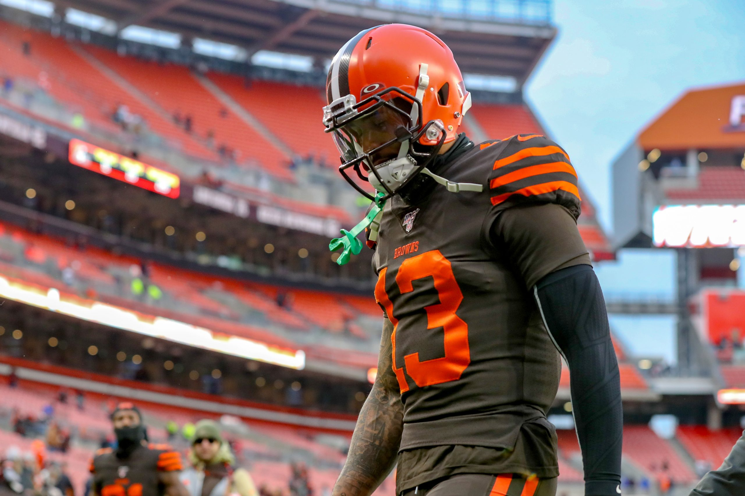 CLEVELAND, OH - DECEMBER 08: Cleveland Browns wide receiver Odell Beckham Jr. (13) leaves the field following the Nation