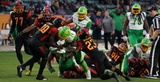 March 8, 2020, Carson, CA, USA: XFL Football - the Los Angeles Wildcats beat the Tampa Bay Vipers, 41 to 34, at The Dign