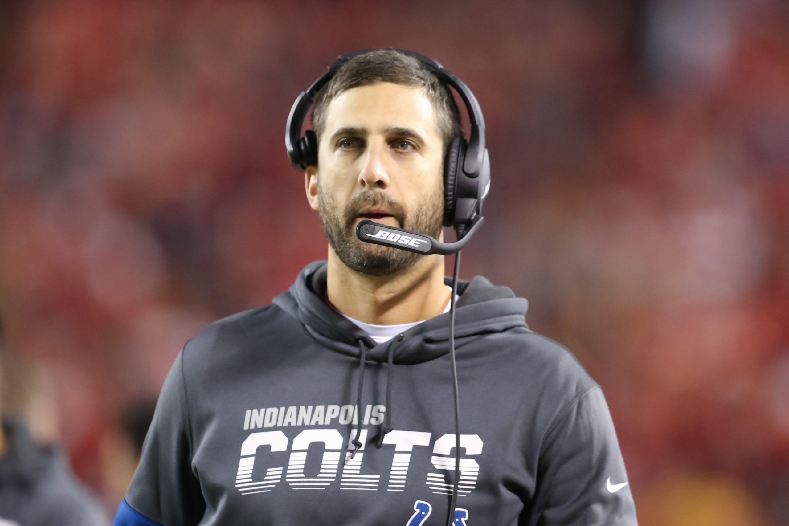 KANSAS CITY, MO - OCTOBER 06: Indianapolis Colts offensive coordinator Nick Sirianni in the third quarter of an NFL, Ame