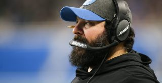 DETROIT, MI - DECEMBER 29: Detroit Lions head coach Matt Patricia is seen on the sideline during a regular season game b